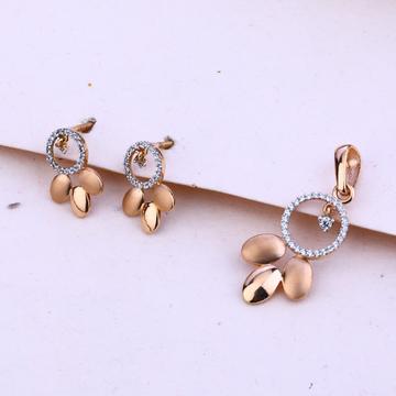 750 Rose Gold Fancy Hallmark Pendant Set RPS50