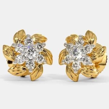 22 Kt 916 Gold Cz Diamond Earring by