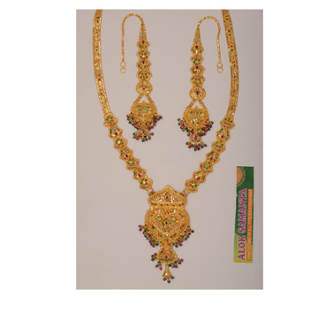 916 Gold Bridal Necklace Set