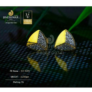 18kt Attractive Fancy Cz Gold Ladies Tops ATG -0552