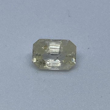 2.91ct octagonal yellow yellow-sapphire-pukhraj by