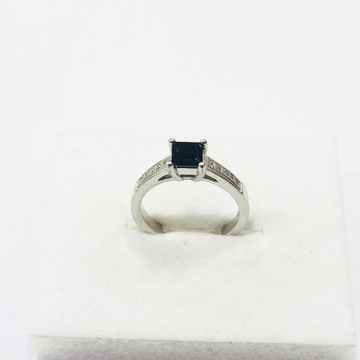 925 sterling silver black stone ring for women