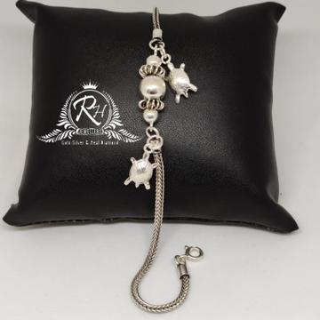 92.5 silver fancy ladies bracelet Rh-Ly971