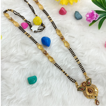 916 GOLD LONG ANTIQUE MANGALSUTRA by Ranka Jewellers