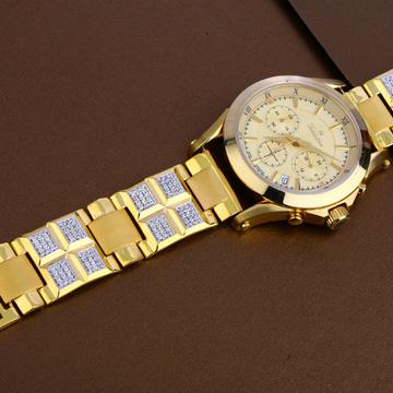 916 Gold Mens Fancy Hallmark Watch MW19