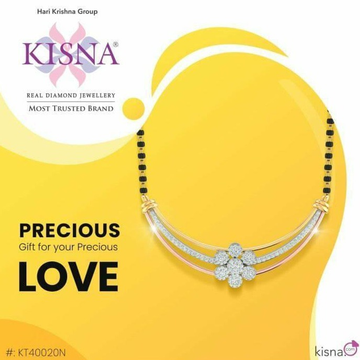 22Kt Gold Designer Real Diamond Mangalsutra