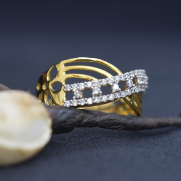 916 Gold CZ Designer Ladies Ring MK-R14 by