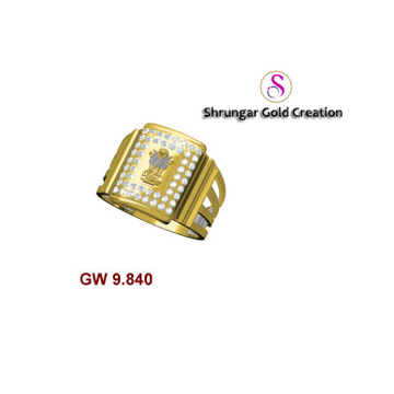 916 Gold Attractive Gents Ring