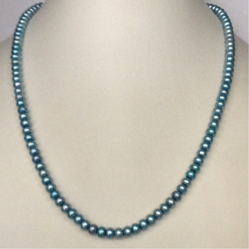 Freshwater Blue Flat Pearls Strand