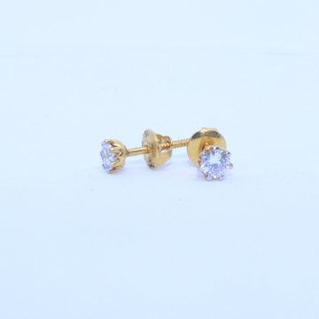 22kt / 916 gold spl occasion round solider earring for ladies btg0407