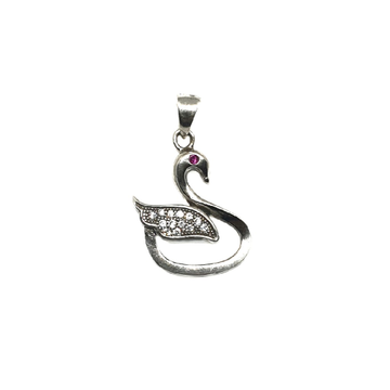 925 Sterling Silver Swan Pendant MGA - PDS0057