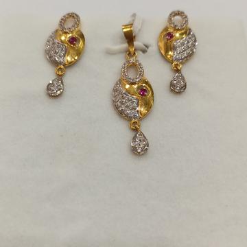 GOLD PENDANT SET by Narayan Jewellers