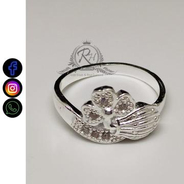 silver daimond ladies rings RH-LR404