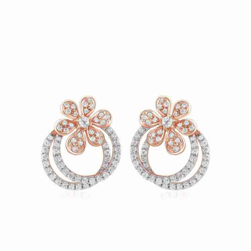 18KT Two Tone Rose Gold Earring