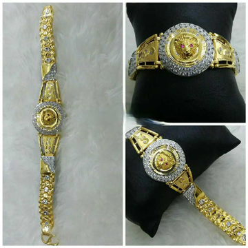 22k gents fancy lion bracelet g-9863