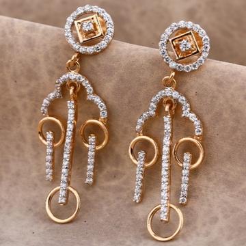 22 carat rose gold stylish ladies earrings RH-LE67...