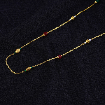 Single Line Delicate 22K Gold Moti Mala-AC129
