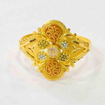 18kt plain gold ladies ring by Prakash Jewellers