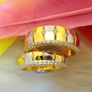 916 gold cz diamond couple rings