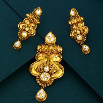 916 gold attractive design Antique pendant set