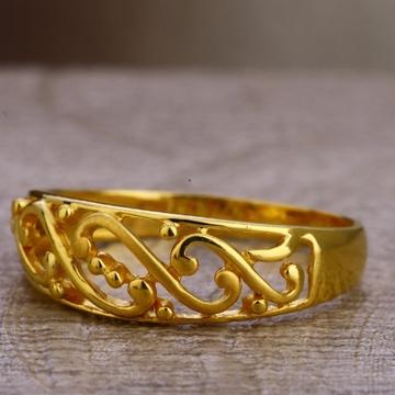 22 carat gold designer plain ladies rings RH-LR630