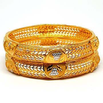 One gram gold forming kada bangles mga - bge0214