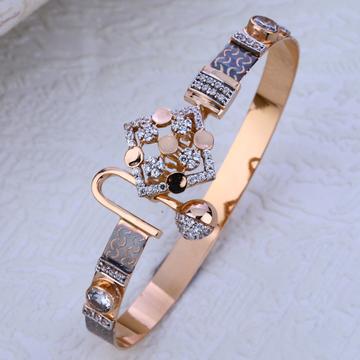750 Rose Gold  stylish CZ Bracelet RLKB198