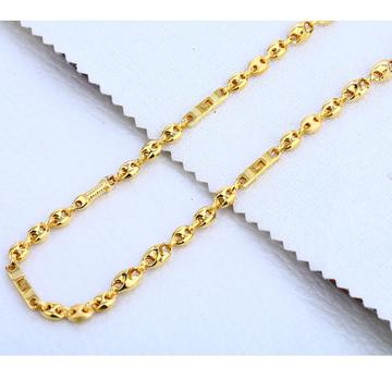 22CT Gold Mens Plain Gorgeous Choco Chain MCH304