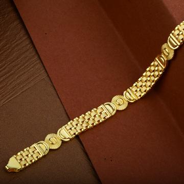 Mens 22K Gold Plain Casting Cartier Bracelet-MCRB15