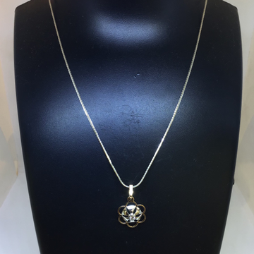 BRANDED FANCY RODIAM CHAIN WITH REAL DIAMOND PENDA... by