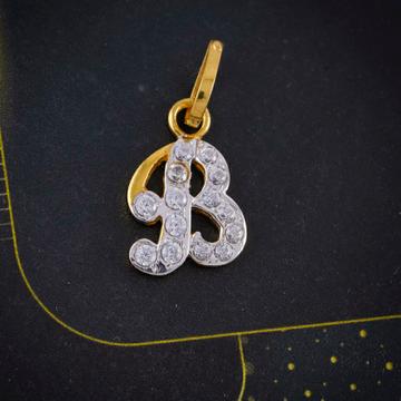 cz letter pendant by Shree Narayani Gold