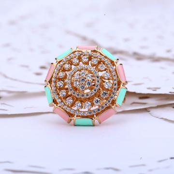 18kt Rose Gold Ring Of Cz RLR422