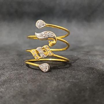 22Kt Designer Women's Wear Fancy Spring Gold Ring -24954