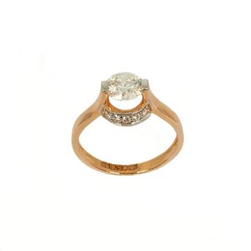 18K Rose Gold Solitaire Diamond Ring MGA - LRG1067