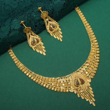 916 Hallmarked Classic Necklace With Stunning Earr... by Simandhar Jewellers
