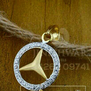 18kt Fancy Designer Cz Gold Ladies Pendant