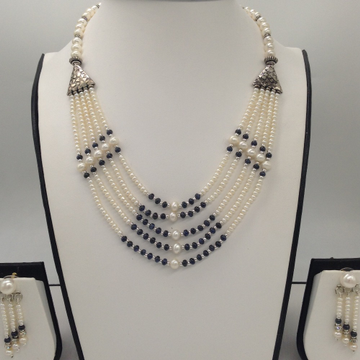 Freshwater White Seed 5Lines Pearls CombinationSet JPP1017