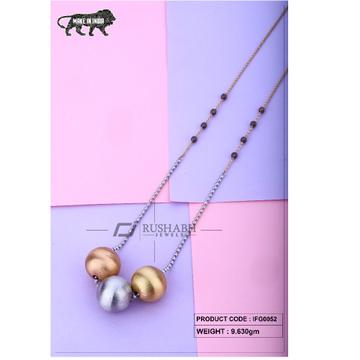 18 carat Italian ladies fancy gold chain 3 piece ball ifg0052