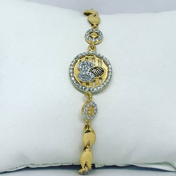 Gold CZ Colourfull Ladies Lucky LL-0003