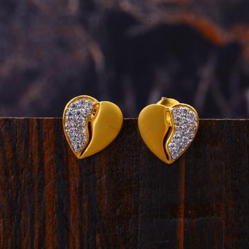 22KT Gold Designer Women's Cz  Earring LFE318