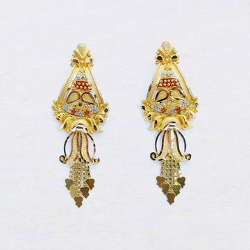 916 Gold Designer Latkan Earring SK-E025