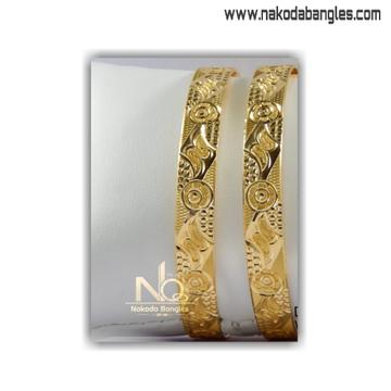 916 Gold Khilla Bangles NB - 1398