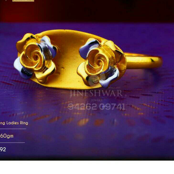 916 Flower Design Plain Casting Ladies Ring LRG -0555
