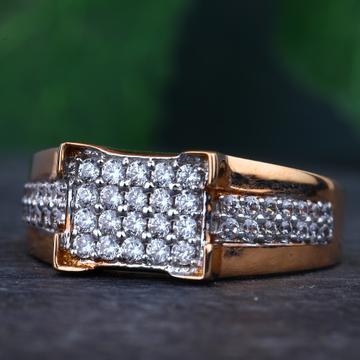 18KT Rose Gold CZ Diamonds Rings RHJ-897