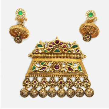 916 Gold Antique Bridal Pendant Set RHJ-6015