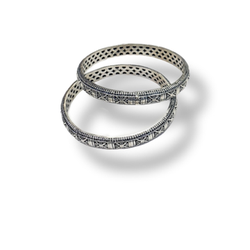 92.5 silver hollow bangle