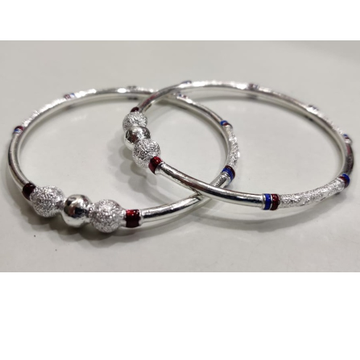 silver ladies vaccum fancy bangles RH-BL652