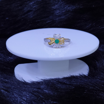 22KT/916 Yellow Gold Camilla Lattice Flower Ring For Women
