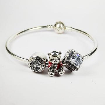 92.5 sterling silver micky mouse bracelet by