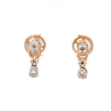 Delicate geometrical design diamond earrings in 18...
